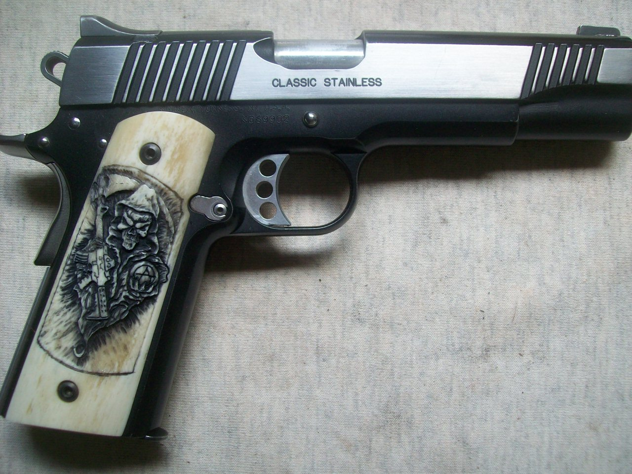 Hand Carved, Pistol Grips,pistol,grips,carving,metal,inlay,exotic